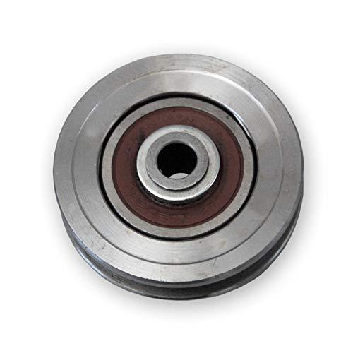 Torrolle, Schiebetorrolle Ø 75 mm mit Flachkehle 9mm
