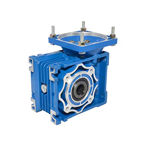 Caja reductora de gusanos con relación 1/5/7.5/10/15/20/25/30/40/50/60/80/100 para puerta eléctrica Mini grúa, NMRV 040, Ratio 7.5
