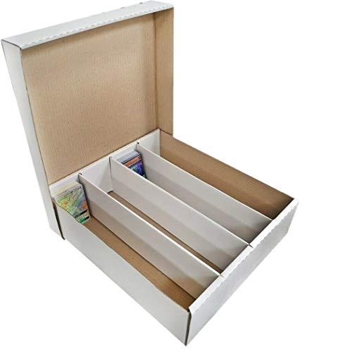 Arkero-G Storage Box Aufbewahrungsbox / Sammelkarten Kiste für 4000 Karten wie Magic, Pokemon, Yugioh Monster Papp-Karton