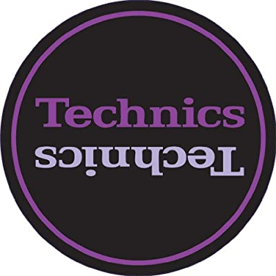 Technics DMC Turntable Slipmats (1 Pair) - Black/Purple
