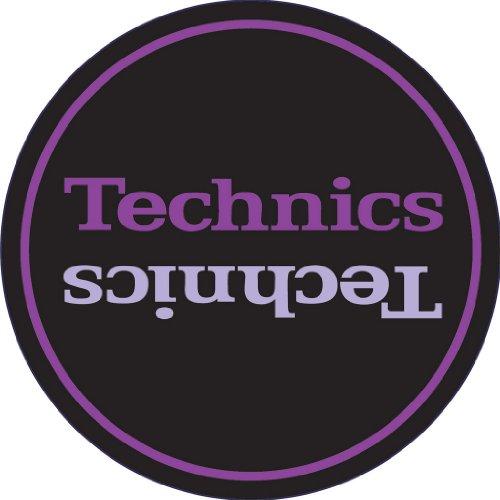 Technics DMC DJ Slipmats (1 Paar) schwarz/lila