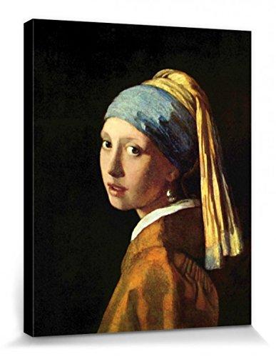 1art1 Johannes Vermeer - Das Mädchen Mit Dem Perlenohrring, 1665 Bilder Leinwand-Bild Auf Keilrahmen | XXL-Wandbild Poster Kunstdruck Als Leinwandbild 50 x 40 cm
