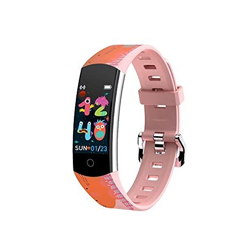 Relojes Inteligentes para Niños Relojes Inteligentes GPS para Niños con Pantalla de Plexiglás Posición a Prueba de Agua en Tiempo Real WiFi Deportes Salud Pulsera de Pulsera