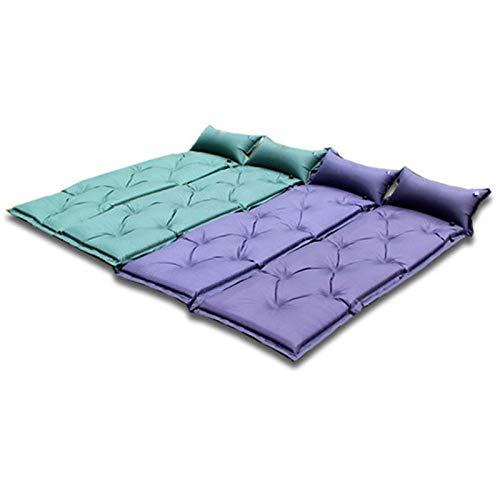 Jieoy Selbst aufblasbare Matratze Camping 5cm Thick Air Cushion Mit Kissen Super Soft for Outdoor-Camping-Grün Blau Matratze Casper (Color : Blue)