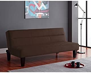 Kebo Futon Sofa Bed, Ideal for Hanging Out in The Lazy Afternoon or Catching Some Sleep at Night (Brown, Microfiber)