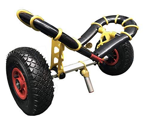 Riber Kajak-Trolley/Kanu/SUP/Surfbrett – Bugzy Trolley zusammenklappbar flach Design Kapazität 40 kg