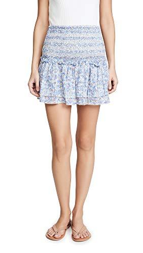 Poupette St Barth Women's Triny Miniskirt, Blue Iris, Large