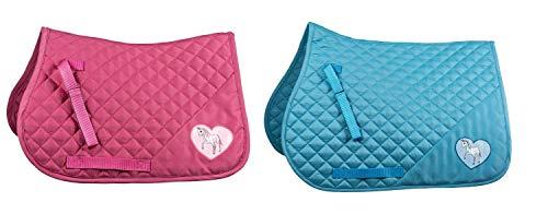 netproshop Vielseitigkeits Schabracke Größe Pony Farben: Hellblau oder Pink, Farbe:Hellblau