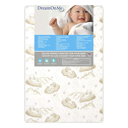 Dream On Me 3' Spring Coil Mini / Portable Crib Mattress, (Model: 23)