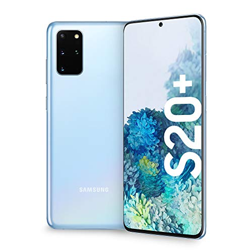 "Samsung Galaxy S20+ Smartphone, 4G, Display 6.7"" Dynamic AMOLED 2X, 4 Fotocamere Posteriori, 128 GB Espandibili, RAM 8 GB, Batteria 4500 mAh, Hybrid SIM/eSIM,  [Versione Italiana], Cloud Blue"