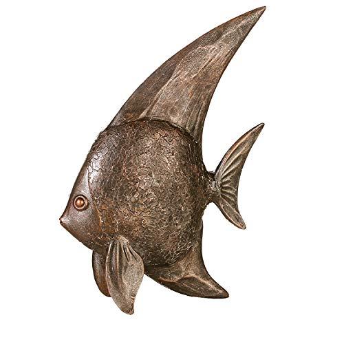 Casablanca Figur Fisch - aus Poly im bronzefarbenem Antik-Finish H 35 cm