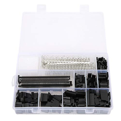 Kit de Conector de Pines Macho y Hembra de 1450 Piezas Apto para Conector electrónico Macho Hembra de 2,54mm Kit de Conector PCB Accesorio Industrial