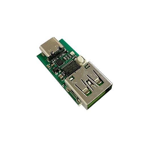 ZHOUYUFAN Typ-C USB-C PD2.0 PD3.0 auf DC Spoof Scam Schnellladeauslöser Polling Detektor USB-PD Notebook Netzteil Wechselplatine Modul (Größe: USB-Stecker)