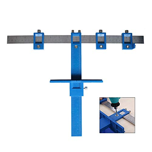 XLKJ Perforador de perforación Localizador, Localizador de Punzones Abrazadera para gabinete de Herramientas de herraje cajón Jig Madera Perforadora Sistema Maestro de Sierra