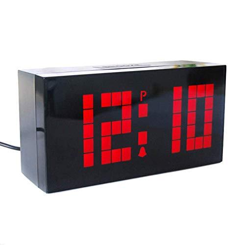 Abracing Digitale led-wandklok, multifunctioneel, om neer te zetten, wekker met kalender, timer
