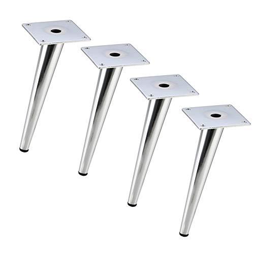 WSXZ Piedi del Divano, 4 Set di Piedini di Supporto in Metallo, mobili per tavolini, Gambe coniche inclinate/Accessori Hardware per Gamba di Ricambio (15 cm, 20 cm)