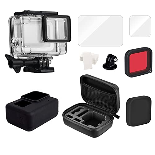DAXINIU Caja de la Carcasa de 45M for GoPro Hero 5 6 7 Black Diving Protective Buck Bound Cover for Gopro Filter Bag Accessories Accesorios de la cámara (Colour : E2035-E)