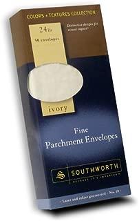 Southworth Fine Parchment Envelopes, Size 10, Ivory, 50 Count (P984-10L/3/18)