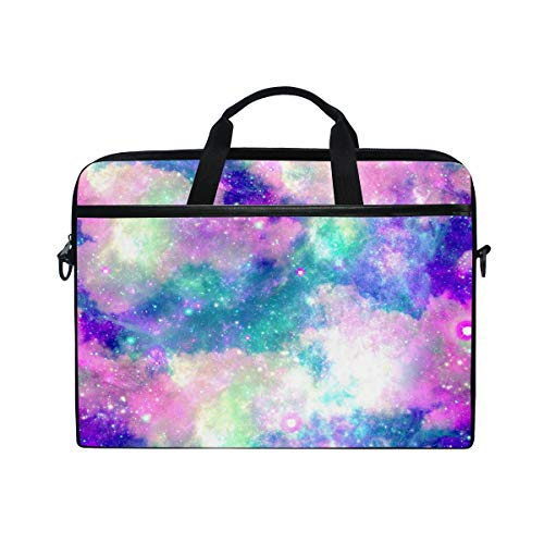 DOSHINE Laptop Bag Case Sleeve Galaxy Star Rainbow Abstract Notebook Computer Bag for 14-14.5 inch Adjustable Shoulder Strap, Back to School Gifts for Men Women Boy Girls