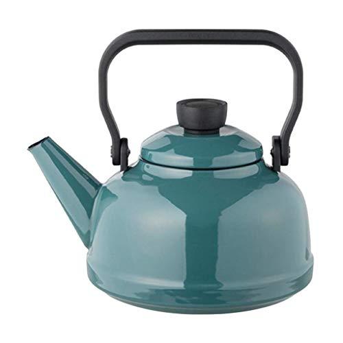 Creativity 2.3L Gas Kettle Large Capacity Kettle Thick Enamel Kettle, Enamel Kettle Gas and Gas Induction Cooker Household Teapot (Color : Smoke Blue)