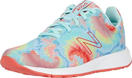 New Balance Kid's 455 V2 Lace-Up Running Shoe, Bali Blue/Toro Red, 2 M US Little Kid