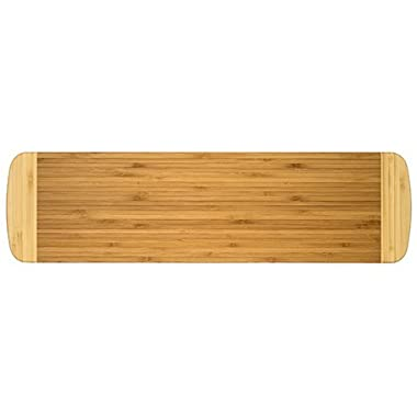"Totally Bamboo Palaoa Cutting and Serving Board, 100% Bamboo with Two-Tone Design, 23"" by 6"""