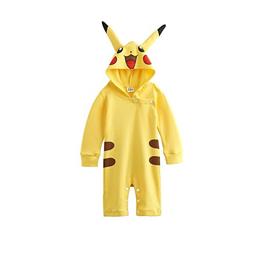 Traje infantil inspirado en Pikachu Pokemon. 0-6 meses