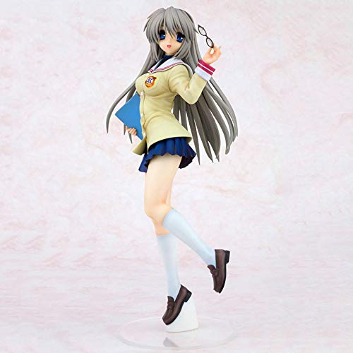 BHNACM Clannad Schöne Weiße Behaartes Mädchen Sakagami Tomoyo Action-Figur Zeichentrickfigur Modell-Dekoration Statue