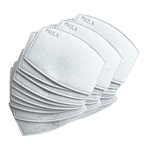50 pezzi Filtro per Mascherine a Carbone Attivo PM2,5, 5 Strati sostituibili Anti-Appannamento, Filtro Protettivo per Bocca