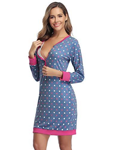 Hawiton Camison Lactancia Hospital Pijama Lactancia Manga La