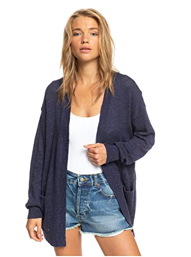 Roxy Junior's Valley Shades Cardigan, Mood Indigo, L