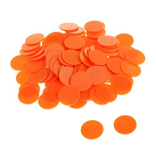 Hellery 300pcs Monedas Ilimitadas Brillantes Piratas De Plástico Toy Party Favor Kids Orange