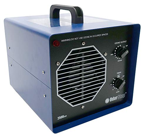 OdorStop OS2500UV2 - Ozone Generator/UV Air Cleaner for Areas of 2500 Square Feet+, for Deodorizing Medium Occupied Spaces Such as Garages and Basements (2500 sq ft + UV + Charcoal)