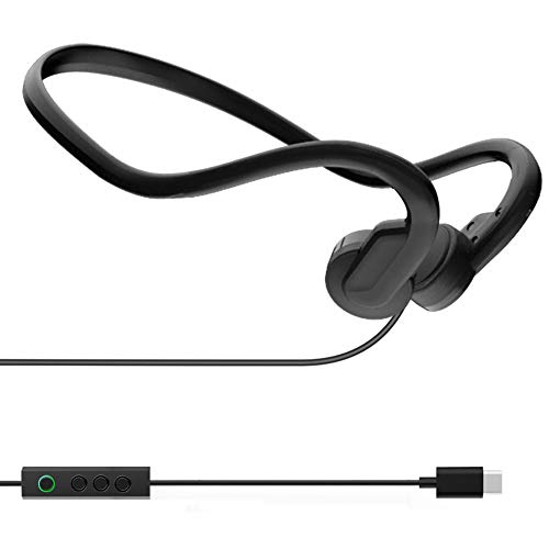 Docooler Bone Conduction Headphones Outdoor Sports Headset Waterproof Type-C Wired Earphone Open-Ear for Driving Cycling Running Gym for Smartphones Tablet PC Notebook