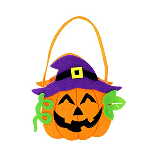 WSJKHY Halloween Kürbis Candy Bag Tote Eimer Korb Halloween Dekoration Ornament Requisiten Party Festival Geschenk Taschen