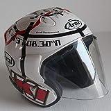 Mdsfe Mezzo casco da moto classico casco quattro stagioni design unisex dal design racing doppio anello a fibbia fibbia leggero portatile - XL trasparente