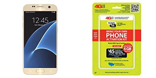 Straight Talk Samsung Galaxy S7 Platinum Gold 32GB Runs on Verizon