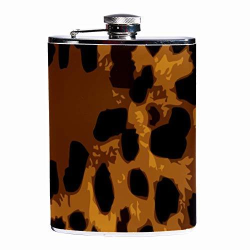 Petaca para licor, a prueba de fugas, para licor y licor de 7 onzas con patrón de panal de abeja, contenedor de bolsillo para bebidas discretas de whisky, alcohol y licor.
