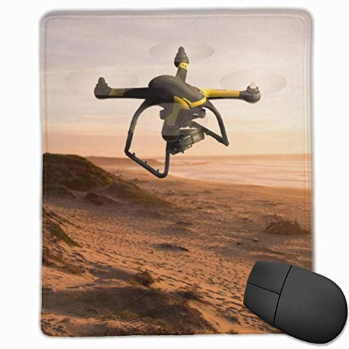 Rae Esthe Alfombrilla de ratón para Juegos portátil UAV Drone Cómoda Base Antideslizante Bordes cosidos duraderos para computadora portátil