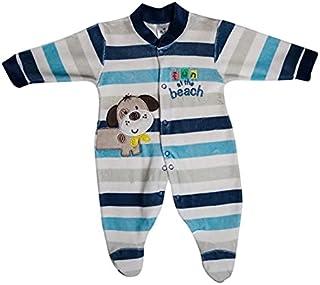 papillon Bodysuit velvet embroidered dog for boys-newborn-dark blue