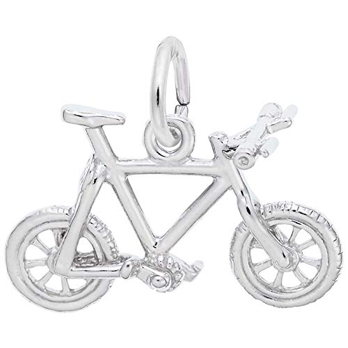 Rembrandt Charms Mountain Bike Charm, Sterling Silver