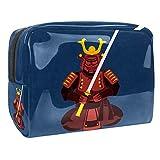 Pochette per trucchi donna Armatura da samurai Trousse Make Up Borsa Cosmetica Borsa Make Up per le Donne 18.5x7.5x13cm