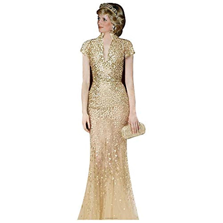 SC2089 Princess Diana Gold Cardboard Cutout Standup