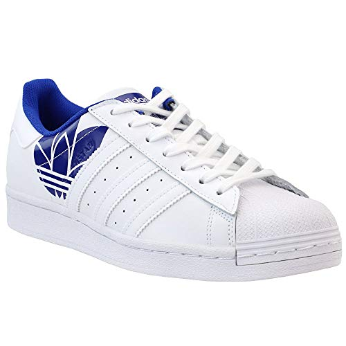 adidas Mens Superstar Lace Up Sneakers Shoes Casual - White - Size 7 D