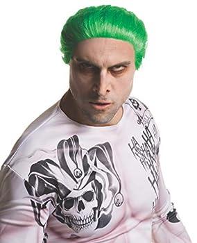 Rubie s mens Suicide Squad Joker Costume Wig Multi One Size US