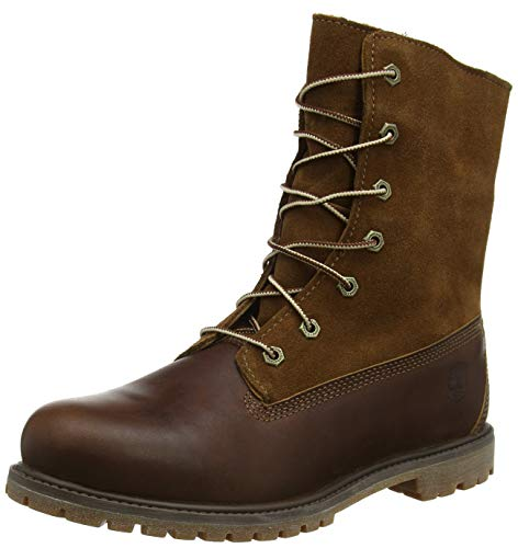 Timberland Authentics FTW_Authentics Teddy Fleece WP Fold Down 8328R, Damen Stiefel, Braun (Dark brown), EU 40 (US 9)