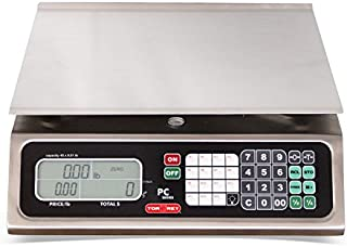 TORREY PC80L Electronic Price Computing Scale, Rechargeable Battery, Stainless Steel Construction, 100 Memories, 8 Direct Access Keys, 80 lb