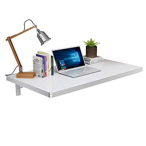 HEWEI klaptafel voor aan de muur, bureau van hout voor kleine ruimtes, eettafel, wit, afmetingen 120 x 30 cm