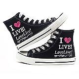 KUNIUO Love Live Zapatillas De Lona para Hombre Bombas con Cordones Zapatos De Patinador Casuales Zapatillas De Deporte Zapatillas De Skate Zapatillas De Deporte Zapatillas De Deporte Zapatos De INT