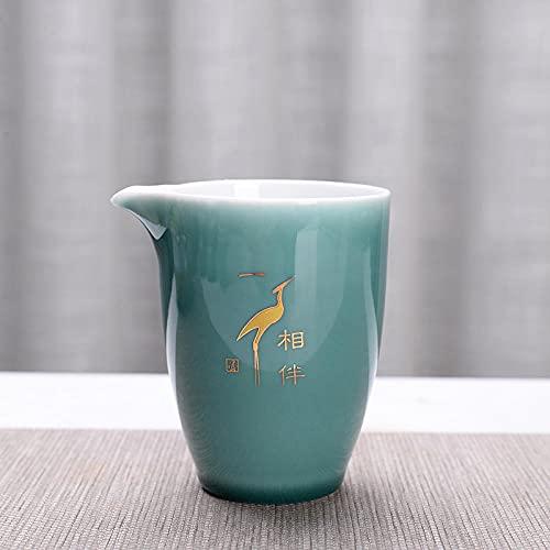 Ksnrang Suministros de té Cerámica Grande Copa Feria Creativa Té de té Accesorios Accesorios Té Azul Té Té Haciendo Logotipo Personalizado-A lo Largo del Camino con la Fair Taza (Haba Qing)